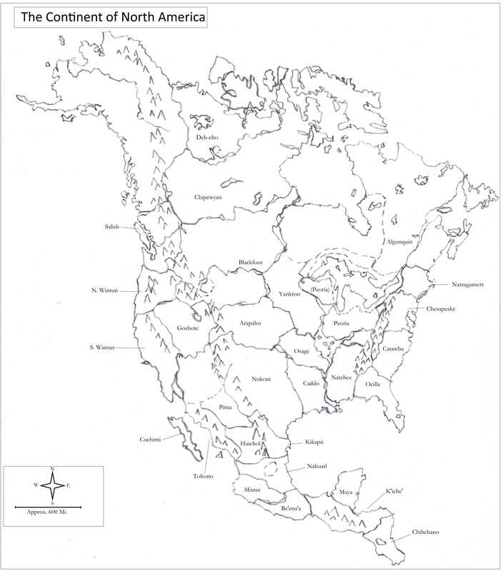 A Map of North America